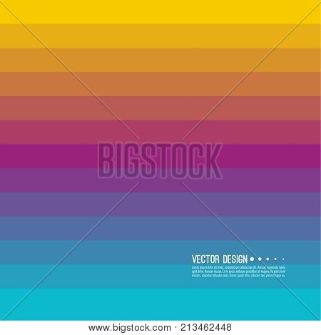 Abstract background with rhythmic rectangular horizontal stripes. Transition and gradation of color. Vector blend gradient for illustrations, covers and flyer. Color purple, blue, yellow, violet.