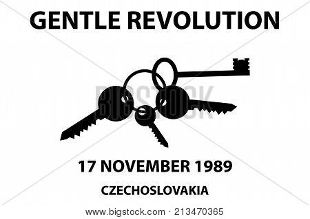 Clinking keys - gentle revolution symbol - 17 november 1989