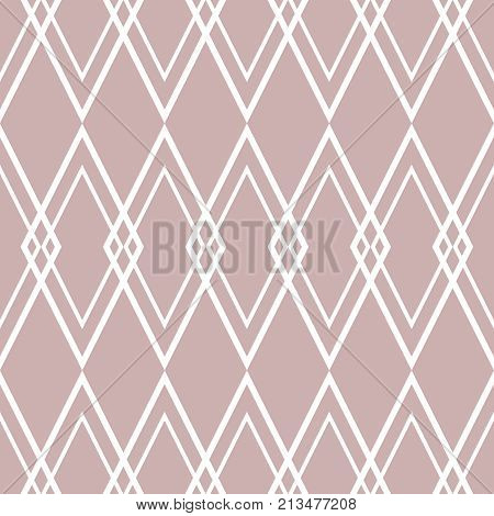 Tile vector pattern or pink and white wallpaper background