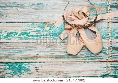 Ballet Shoes And Accessories On Stage