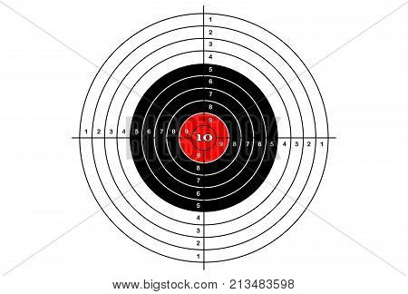 Target shooting simple on white background, vector