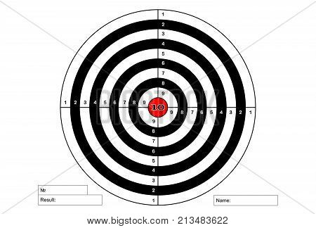 Target shooting with red centre , vector