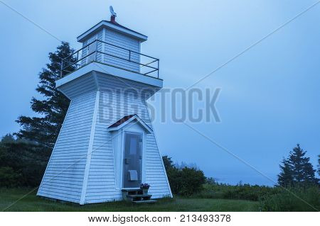 Sheet Harbour Passage Range Rear Lighthouse in Nova Scotia. Nova Scotia Canada.
