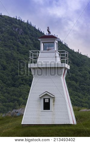 Balache Point Range Rear Lighthouse in Nova Scotia. Nova Scotia Canada.