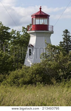 Sydney Range Front Lighthouse in Nova Scotia. Nova Scotia Canada.