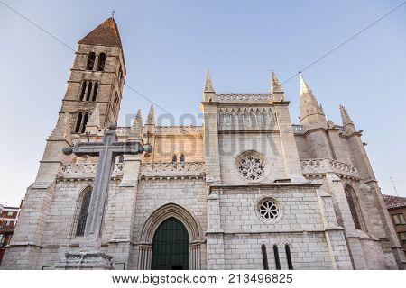 Saint Mary the Ancient Church in Valladolid. Valladolid Castile and Leon Spain.