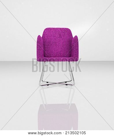 ISOLATED MODERN CHAIR WITH REFLECTION