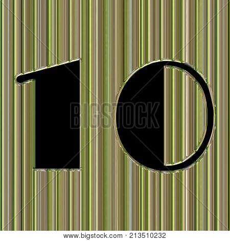 Abstract Glass Background With Number 10 And Space For Your Text