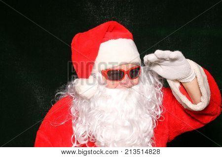 Santa Claus. Santa Claus Poses for his Christmas Portrait.