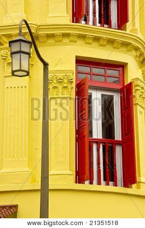 Window, Wall & Lamp Pole