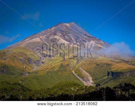 View Of Mount Egmont Or Taranaki Volcano