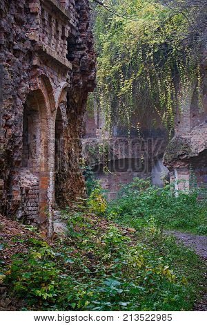 Ruins of abandoned fortifications of the times of the First World War