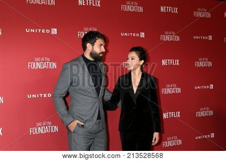 LOS ANGELES - NOV 9:  Tom Cullen, Tatiana Maslany at the Patron of the Artists Awards 2017 at Wallis Annenberg Centeron November 9, 2017 in Beverly Hills, CA