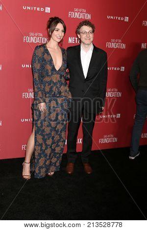 LOS ANGELES - NOV 9:  Sara Bareilles, Nicholas Britell at the Patron of the Artists Awards 2017 at Wallis Annenberg Centeron November 9, 2017 in Beverly Hills, CA