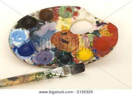 Artist Palette With Brush