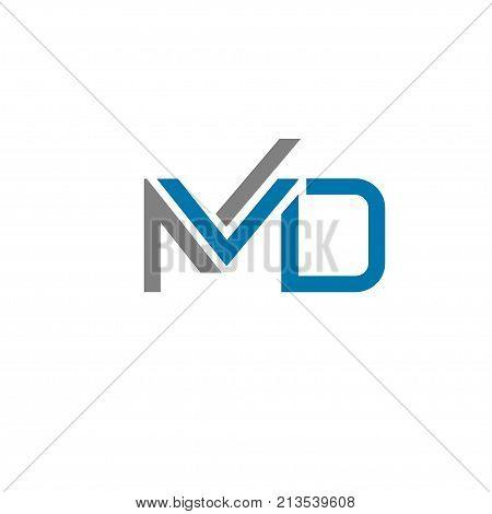 creative letter MD logo concept, innovative MD marketing logo concept