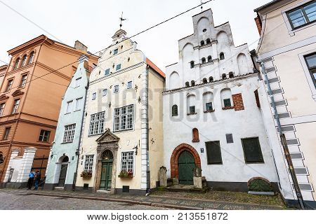 Three Brothers Houses On Maza Pils Iela In Riga