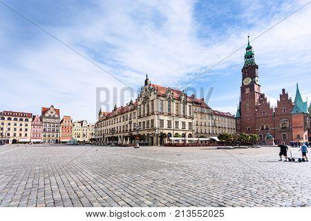 Main Market Square (rynek) In Wroclaw City