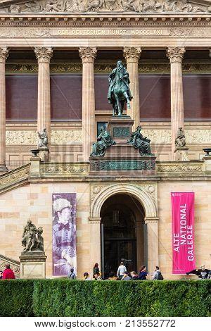 Alte Nationalgalerie On Museum Island In Berlin