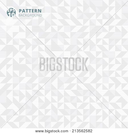 Abstract pattern of geometric shapes. white and gray gradient mosaic background. Geometric hipster triangular seamless. vector illustration