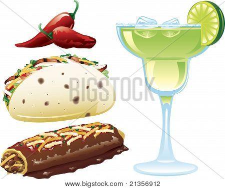 Ícones de comida mexicana