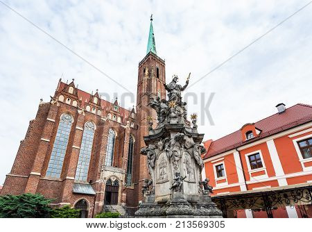 John Of Nepomuk Statue In Wroclaw City