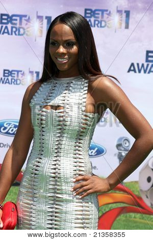 LOS ANGELES - JUN 26:  Tika Sumpter arriving at the 11th Annual BET Awards at Shrine Auditorium on June 26, 2011 in Los Angeles, CA