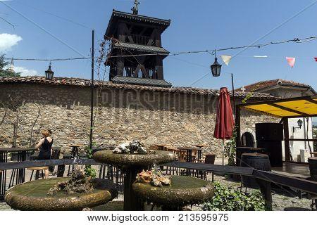 SKOPJE, REPUBLIC OF MACEDONIA - 13 MAY 2017: Orthodox Church of the Ascension of Jesus  in Skopje, Republic of Macedonia
