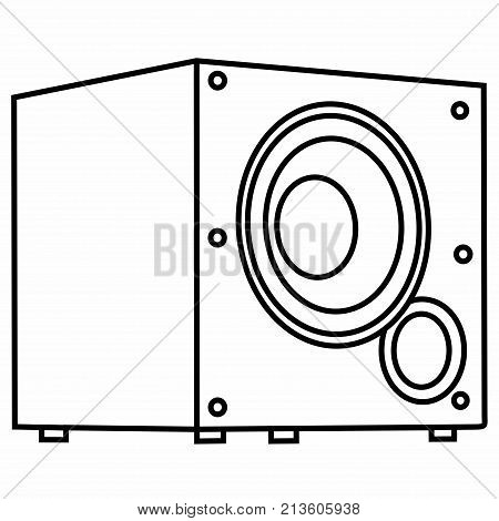 Powerful Bass Dynamic Audio Subwoofer Sound Acoustic