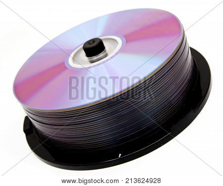 disks on a white background . Photos in the studio