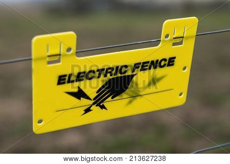 Electric fence sign, A clear sign to anyone not to touch or wee near the wires