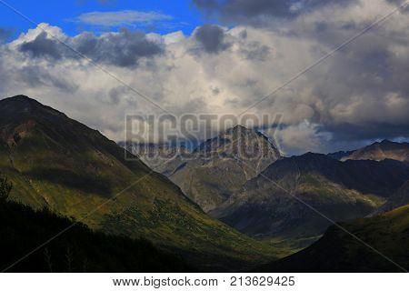 Scenic view along the Hatcher Pass road near Palmer, Alaska