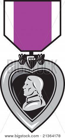 purple heat military medal of bravery