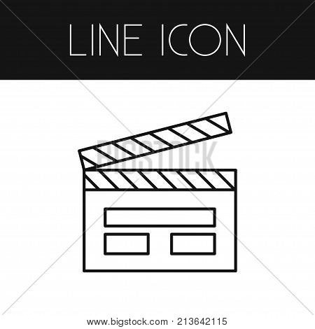 Cinematography Vector Element Can Be Used For Clapper, Movie, Cinematography Design Concept.  Isolated Clapper Outline.