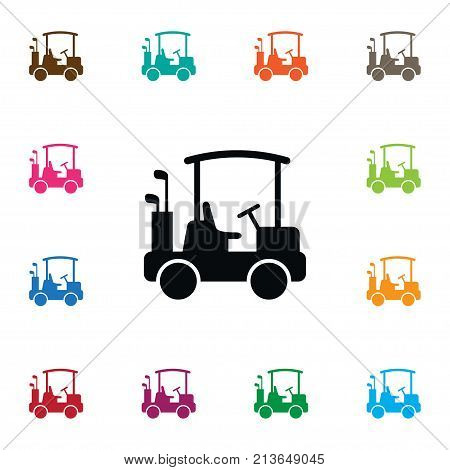 Game Vector Element Can Be Used For Buggy, Golf, Game Design Concept.  Isolated Buggy Icon.