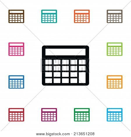 Mathematics Vector Element Can Be Used For Calculation, Mathematics, Calculator Design Concept.  Isolated Calculation Icon.