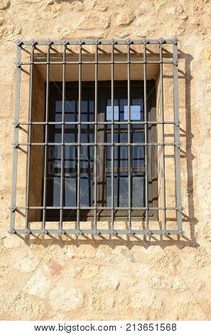 Iron Bars On Window