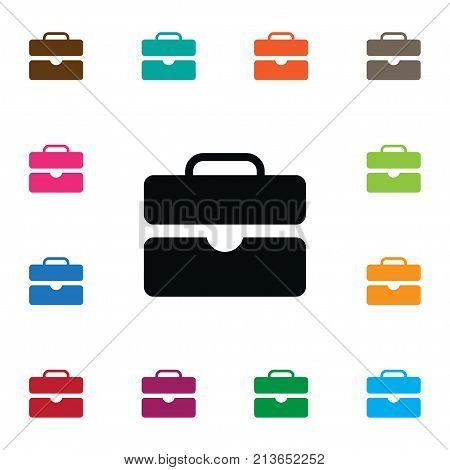 Briefcase Vector Element Can Be Used For Briefcase, Suitcase, Portfolio Design Concept.  Isolated Suitcase Icon.
