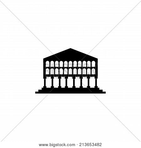 government administration building icon on white background