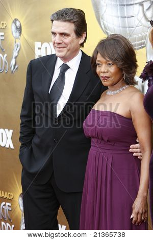 LOS ANGELES - FEB 26: Roderick Spencer, Alfe Woodard arriving at the 41st NAACP Image Awards - held at the Shrine Auditorium in Los Angeles, California on February 26, 2010