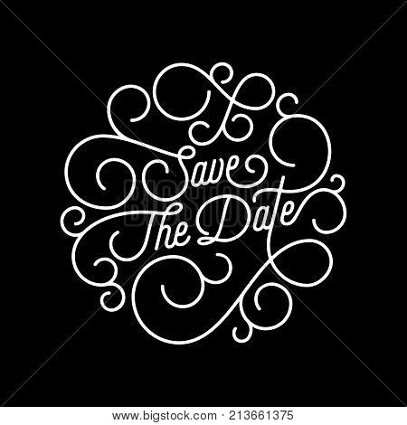 Save date flourish vector photo free trial bigstock save the date flourish calligraphy lettering of swash line typography for wedding invitation card design vector festive ornamental wedding save date quote stopboris Image collections