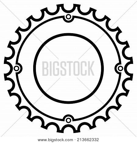 Chainrings Bicycle. The large forward ring on a bicycle that a chain attaches to, in order to transfer energy to a wheel. It consists of one or more sprockets that are driven by the cranks and pedals of the bicycle.