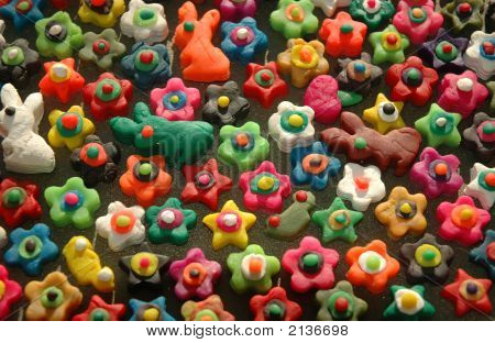 Funky Colors And Shapes Of Childhood