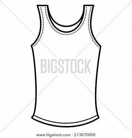 Clothing men's underwear shirt sleeveless underclothes vector