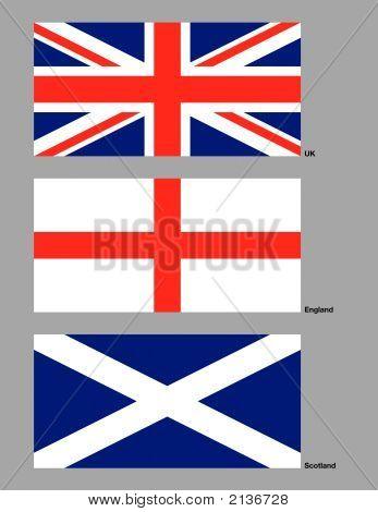 United Kindom Flags.Eps