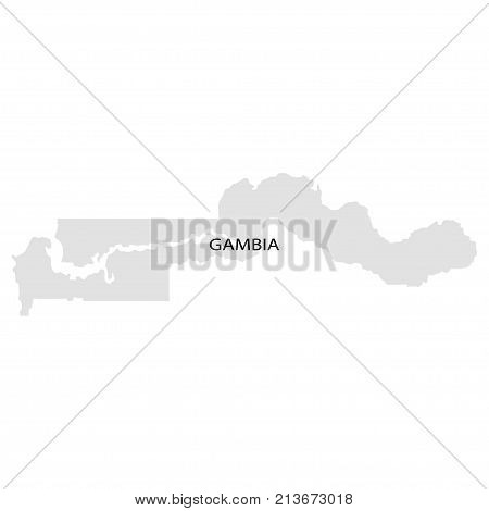 Territory of Gambia. White background. Vector illustration.