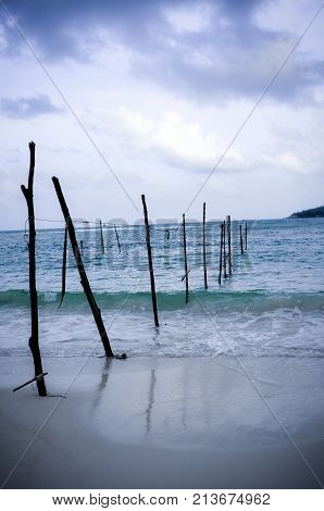 Posts Planted in the Water in Ko Phangan