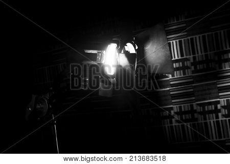 Vintage Theatre Spot Light In The Studio