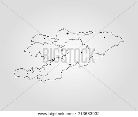 Map Of Kyrgyzstan