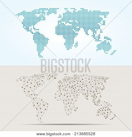 Maps globe Earth contour outline silhouette world mapping texture vector illustration. International art worldwide global ocean cartography. Abstract land country continent graphic. poster